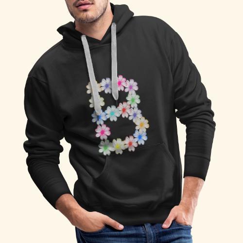 Buchstabe B aus Blumen, floral, Kosmee Blüten - Männer Premium Hoodie