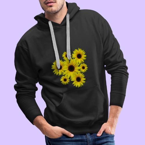 Sonnenblumenstrauß, Sonnenblumen, Blumen, Blüten - Männer Premium Hoodie