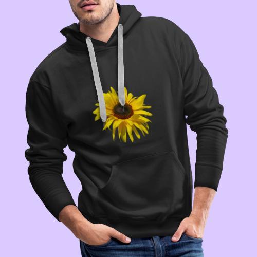 blühende Sonnenblume, Sonnenblumen, Blumen, Blüten - Männer Premium Hoodie