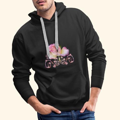 Rose pink, Ornament, Rosen, Blumen, Blüten, floral - Männer Premium Hoodie