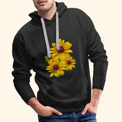 gelb blühende Sonnenhut Blumen, Blüten, floral, - Männer Premium Hoodie