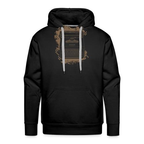 Typewriter - Sweat-shirt à capuche Premium pour hommes