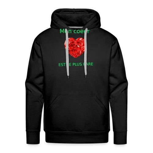 Mon coeur est le plus rare - Sweat-shirt à capuche Premium pour hommes