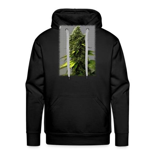 cartoon weed bud - Men's Premium Hoodie