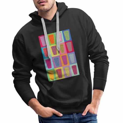 Farbige Dubbegläser - Männer Premium Hoodie