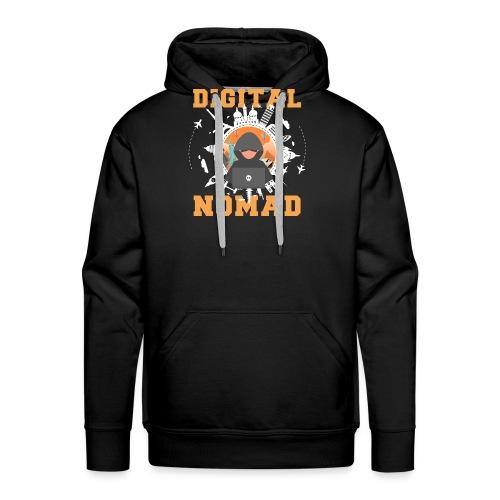 Digital Nomad - Männer Premium Hoodie