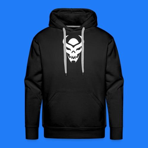 TRIBAL SKULL BLANC - Sweat-shirt à capuche Premium pour hommes