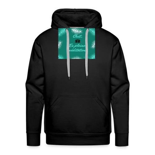 Chut...en pleine méditation - Sweat-shirt à capuche Premium pour hommes