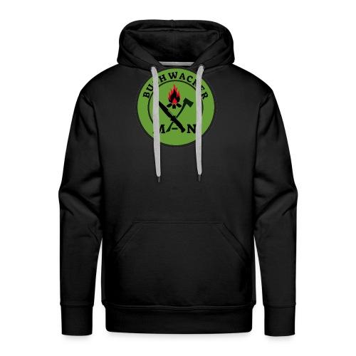 bushwackers logo green - Men's Premium Hoodie
