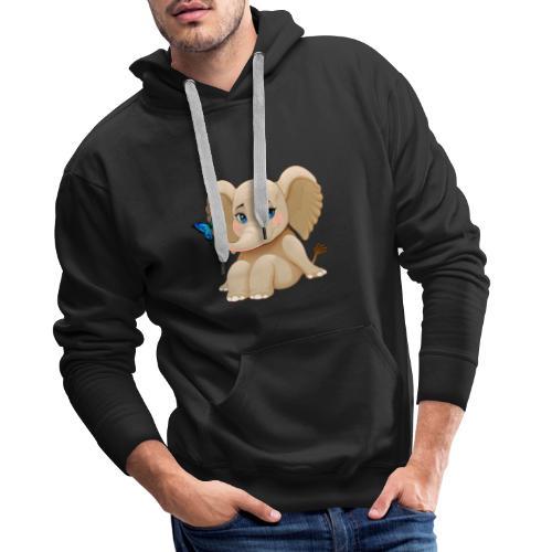 Elefant Baby - Männer Premium Hoodie