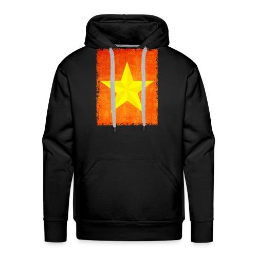 yellow amish barn star t-shirt design gift idea - Felpa con cappuccio premium da uomo