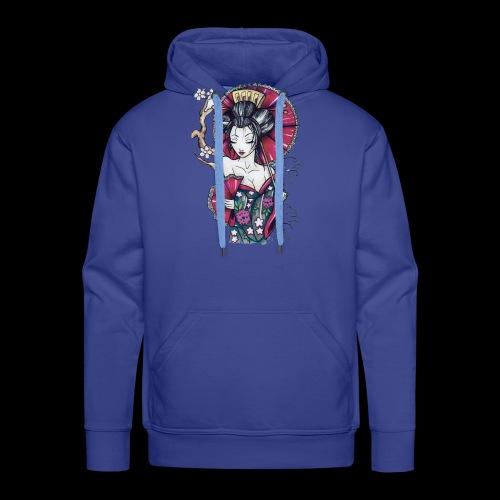 Geisha2 - Felpa con cappuccio premium da uomo