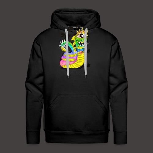 serpentaire multi-color - Sweat-shirt à capuche Premium pour hommes