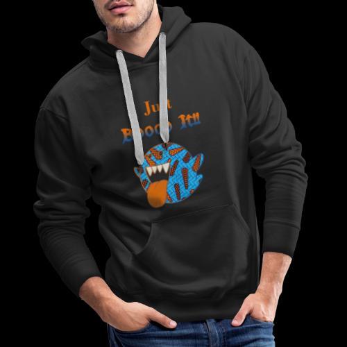 Just Boooo It : Orange Power !!! - Sweat-shirt à capuche Premium pour hommes