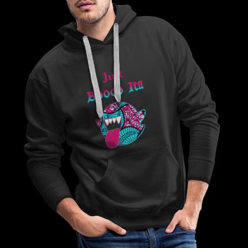 Just Boooo It : Pink Power !!! - Sweat-shirt à capuche Premium pour hommes