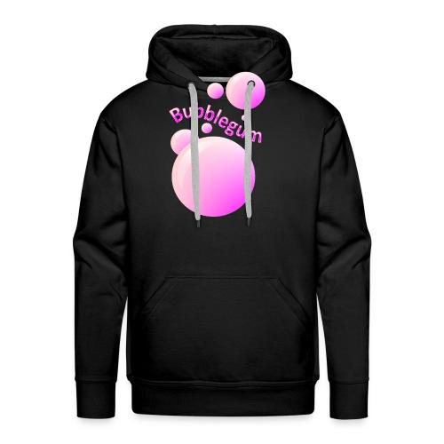 bubblegum glansig text och stora rosa bubblor - Men's Premium Hoodie