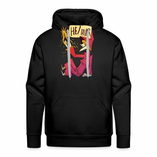 He Him - Sweat-shirt à capuche Premium pour hommes