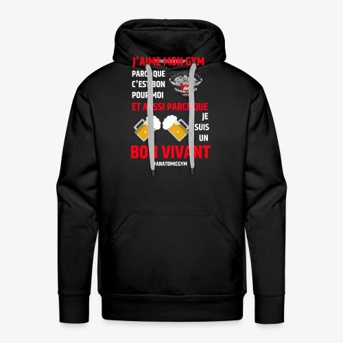 ANATOMIC GYM LIFESTYLE - Sweat-shirt à capuche Premium pour hommes