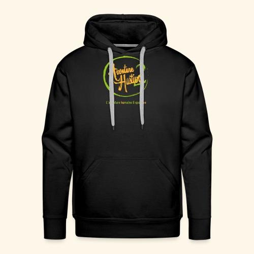 logo AventureHustive 2 - Sweat-shirt à capuche Premium pour hommes