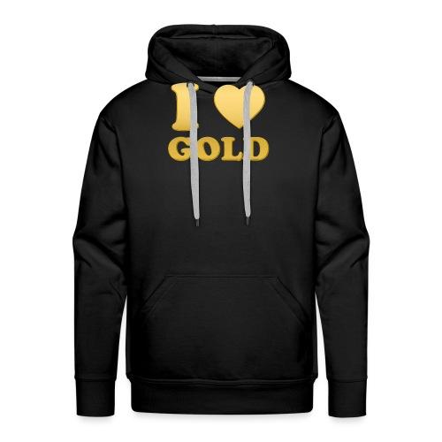 i love gold glanz b - Männer Premium Hoodie