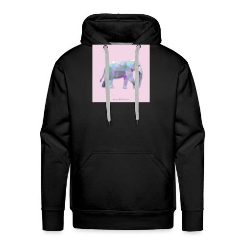 Elefante Intero triangoli - Felpa con cappuccio premium da uomo