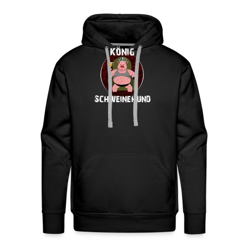 König Schweinehund BLACK - Men's Premium Hoodie