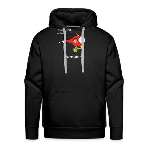 t-shirt grossesse futur pompier - Sudadera con capucha premium para hombre