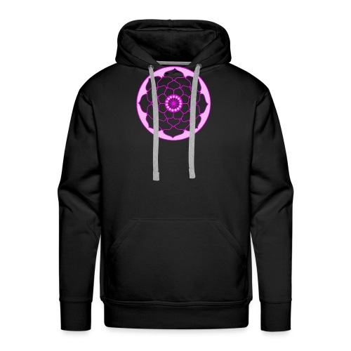 Pink Lotus Flower Mandala - Men's Premium Hoodie