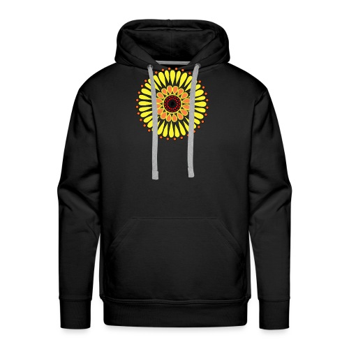 Yellow Sunflower Mandala - Men's Premium Hoodie