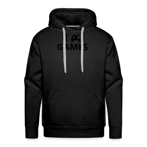 I Love Games 3 - Sudadera con capucha premium para hombre