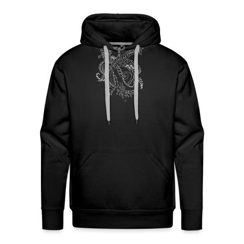 Fantasy hvid scribblesirii - Herre Premium hættetrøje