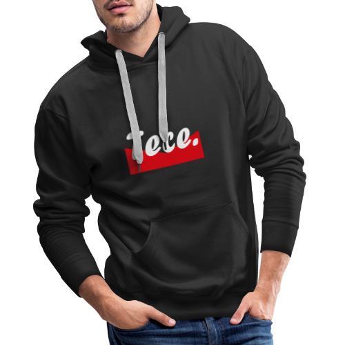 Tece red logo Sweater - Männer Premium Hoodie