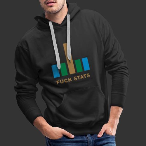 F*CK Stats - Sweat-shirt à capuche Premium pour hommes