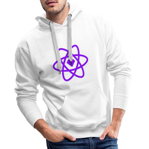 Sketch2React Dark Purple Logo - Men's Premium Hoodie