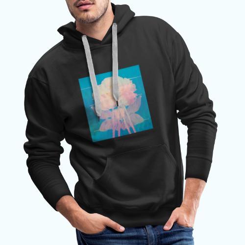 Flowers pop art watercolor - Men's Premium Hoodie