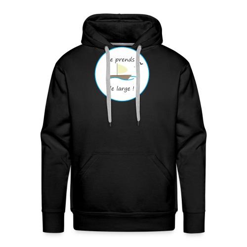 JePrendsLeLarge - Sweat-shirt à capuche Premium pour hommes