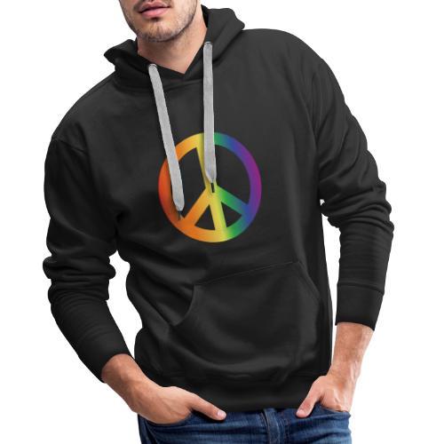 Pride Peace Gradient - Men's Premium Hoodie