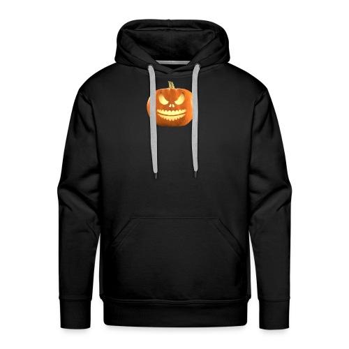 Halloween Pumpkin scary face 7 - Premium hettegenser for menn