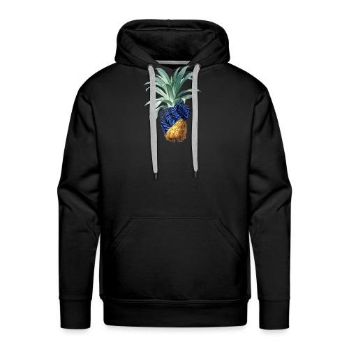 Pineapple with pineapple blue - Männer Premium Hoodie