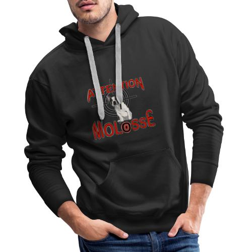 Attention Molosse Bouledogue Français - Sweat-shirt à capuche Premium pour hommes