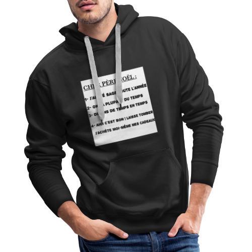 T-shirt cadeau Noël - Sweat-shirt à capuche Premium pour hommes
