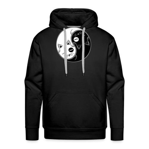 Yin Yang katze flex - Männer Premium Hoodie
