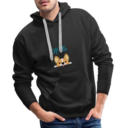logo cachorro - Sudadera con capucha premium para hombre