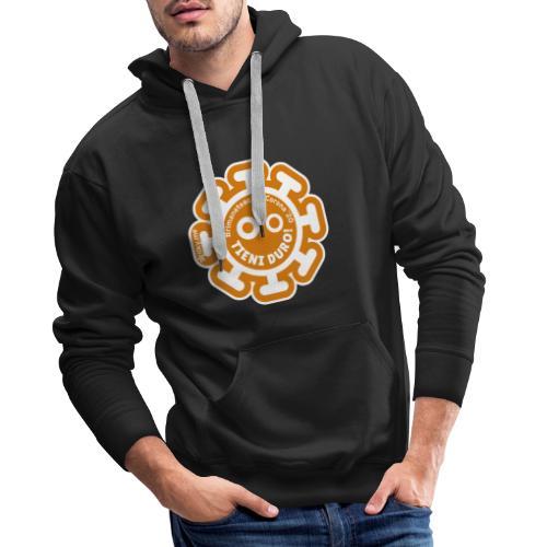 Corona Virus #rimaneteacasa arancione - Felpa con cappuccio premium da uomo