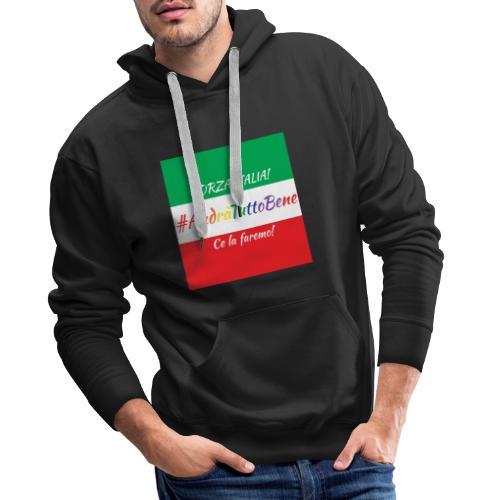 Andrà Tutto Bene su Bandiera Italiana - Felpa con cappuccio premium da uomo