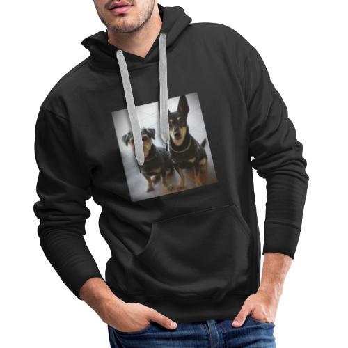 Cani - Felpa con cappuccio premium da uomo