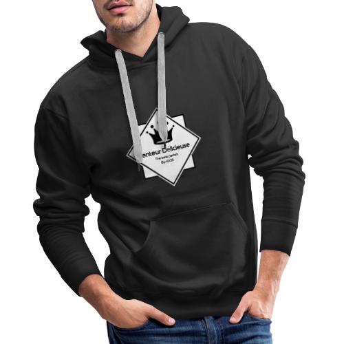 Senteur délicieuse logo - Sweat-shirt à capuche Premium pour hommes