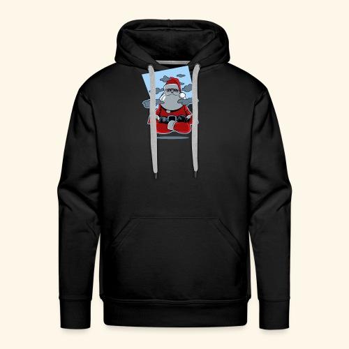 Papa Noël zen - Sweat-shirt à capuche Premium pour hommes