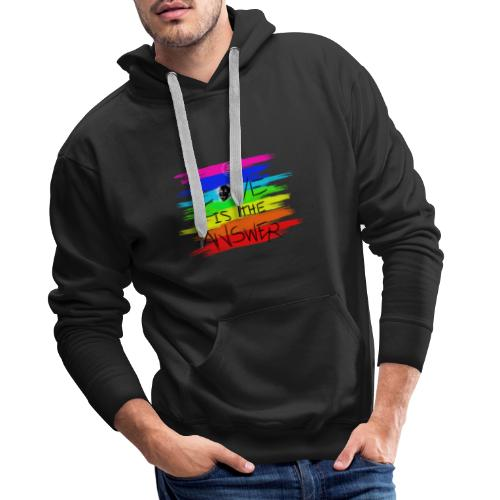 LoveIsTheAnswer MaitriYoga - Sweat-shirt à capuche Premium pour hommes