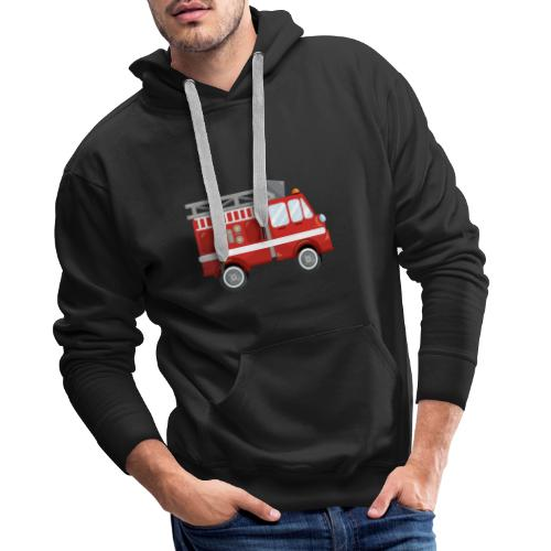 Wóz strażacki Straż pożarna - Bluza męska Premium z kapturem